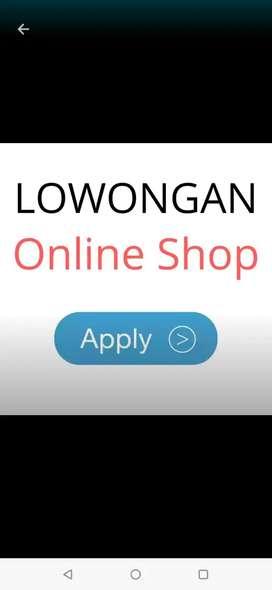 Lowongan kerja packing admin toko online