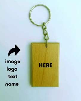 Wood Keychain with your photo and name