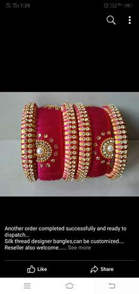 I will do all types of thread bangles,neck sets,ear rings  etc etc