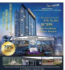 P block 7 marla plot available for sale in ichs town
