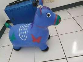 Mainan jumping animal, kuda kudaan ada music