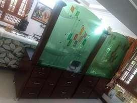 Rosewood modular kitchen wardrobe set