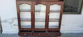 Wooden show case (used) price negotiable