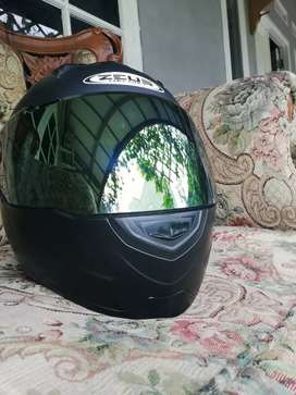Zeus 811 Solid Helm Fullface Polos - Matt Black L