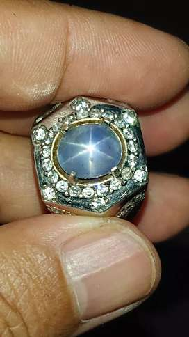 blue star sapphire 6.31 crt safir ceylon kristal natural harga pas net
