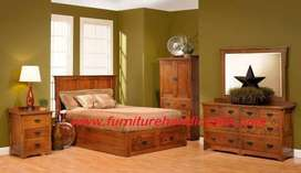 Brand new sheesham solid wooden storage double cot