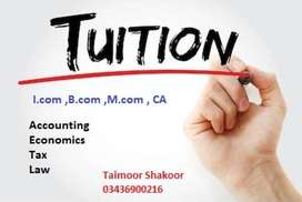 accounting tuitions availabale