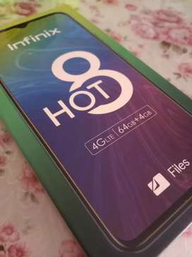 infinix hot 8 ram 4/64 batre 5000 mah NEW SEGEL
