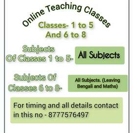 Online Tution for class I-V (All subject)