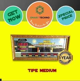 Tersedia Stok Jam Sholat Masjid Tipe Medium Terlaris -abs-