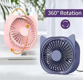360 Rotation USB Mini Fan Mute Cooler For Office,Car Home,Laptop.