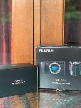 Kamera Fujifilm X-M1 (body) + Lensa Fujinon XF 35mm F1.4 R