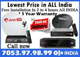 Dishtv Airtel digital XSTREAM DTH Tatasky binge+ Videocon D2H Tata sky