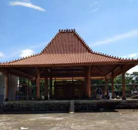 Produksi Joglo Pendopo Kayu Jati Utk Balai Desa Balai Pertemuan, dll