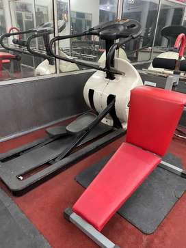 Cross trainer,ABPROBENCH,doumnle stands,Rod stands. Two cycles 6 Rods