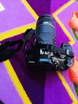 Canon 1500D With Zooming Lens (55-250)