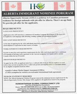 Alberta PNP Canada with Job Offer