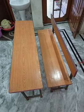 Table and Benches- Set of 12