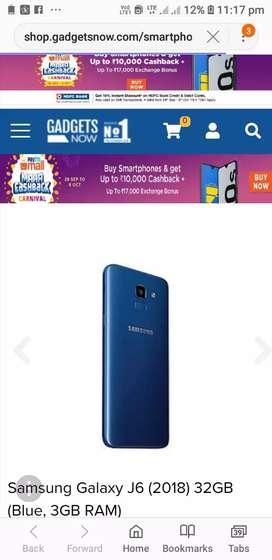 J6 Samsung 5 month used