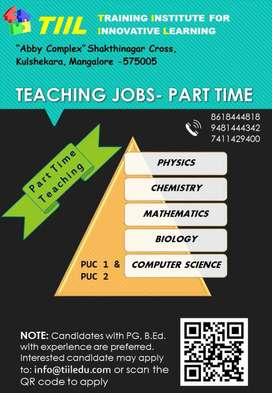 PART TIME TEACHING JOBS ( PUC Science)
