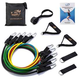 Fit Simplify Resistance Band Set 11 Pieces + Booklet and Online Videos
