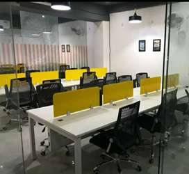15seating 2cabin fully furnished office space at Rent Palasiya indore