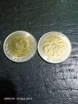 Uang Koin Seribu Rupiah Kelapa Sawit Tahun 1993