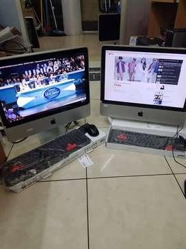 Apple Imac core 2 duo layar 20 inch 4gb hdd 250gb garansi mulus secon