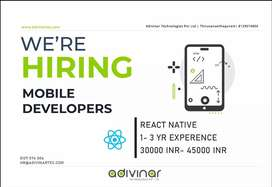 Need Mobile & Frontend Developer