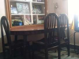 Teak wood dinning table with 6 chairs. 3 are in condition.7 years old.