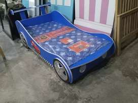 Car Bed in Laminated sheet, Bunker Bed Single Bed
