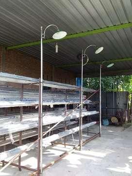 Tiang lampu PJU stainless steel