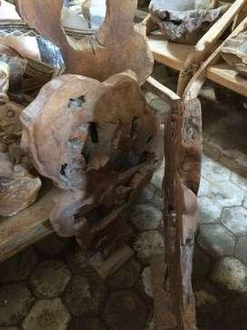 Handicraft hiasan antik kayu jati