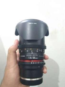 JUAL LENSA SAMYANG CINE LENS 35MM T1.5 (FOR SONY E-MOUNT)