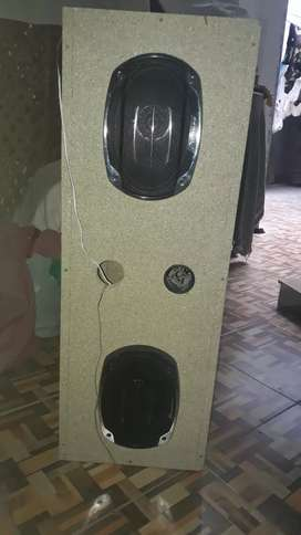 Car speaker with box