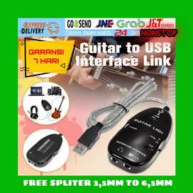 USB GUITAR LINK CABLE FOR AUDIO INTERFACE ( COD FREE )