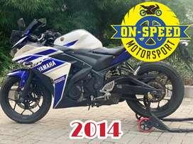 Jual motor moge yamaha R25 blue gp series 2014 pjk off