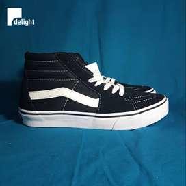 Jual Sepatu Vans sk8hi black white original japan market