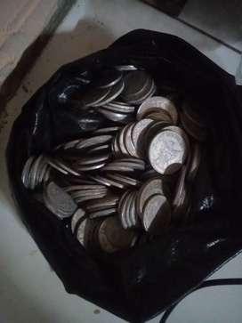 Uang logam lama jadul campur,ada 400 biji
