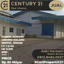 DIJUAL 7 Bangunan  Dalam 1 Lokasi Gedung Baru + Pabrik + Gudang