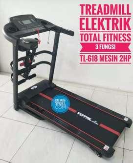 Treadmill Elektrik 3 Fungsi Type TL-618 Mesin 2Hp