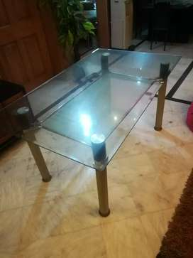 Double layer Mirror table. Good condition & imported