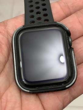 Apple watch 4, size 44mm, grey, nike ed.