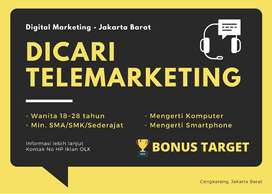 Lowongan Pekerjaan Staff Tele Marketing / Telemarketing