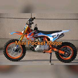Motor Mini Trail 50cc 4Tak Matic Bensin Elektrik starter Full Matic