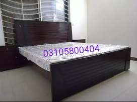 Double bed king size with side table