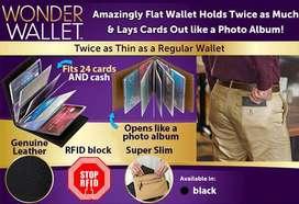Dompet Kartu ATM dan Kartu Kredit Wonder Wallet 24 Card Hitam