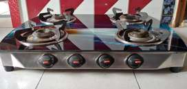 4 Burners Gas Stove With Glass Top