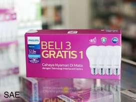 lampu philips led paket 12 watt
