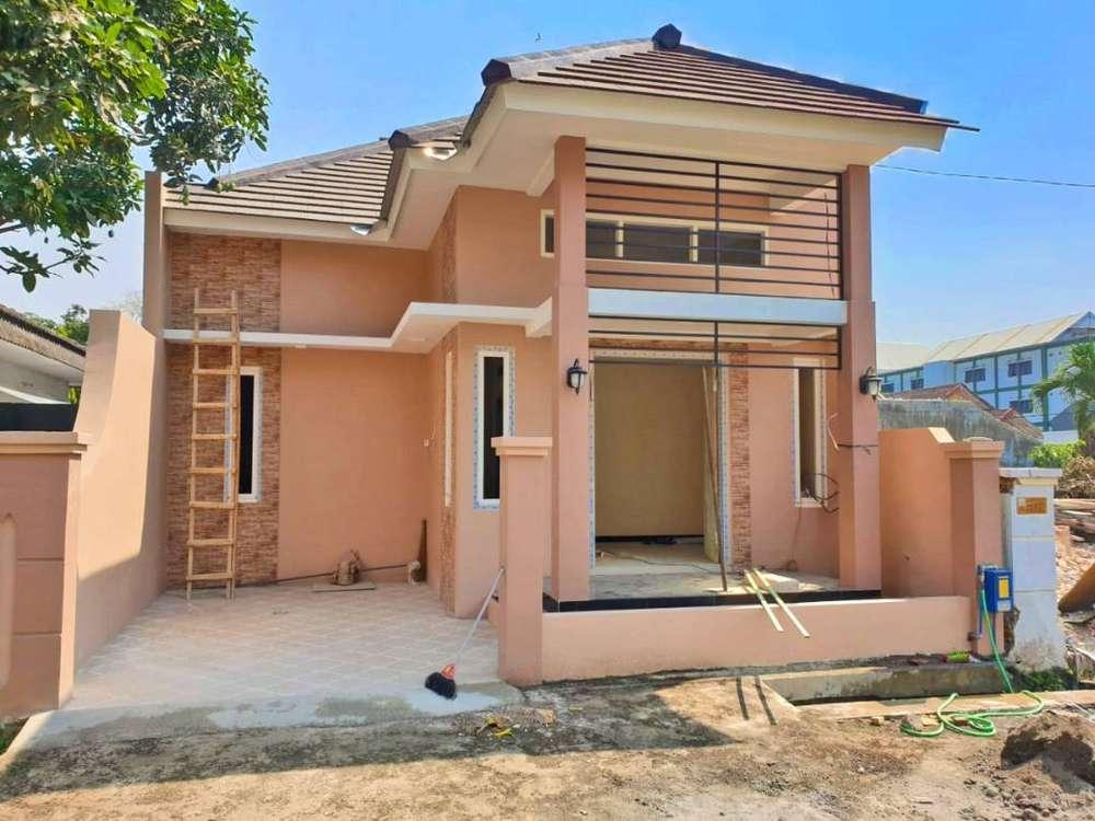 rumah murah baru luas banyak kamar siap huni strategis tengah kota